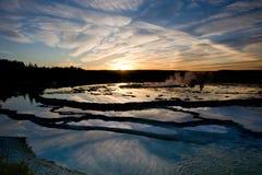odbicie zmierzch Yellowstone Zdjęcie Royalty Free