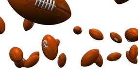 Odbijać się rugby piłki Na Białym tle ilustracja wektor