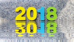 2018 odbijają w wodzie wzór royalty ilustracja