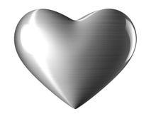 Stalowy serce Zdjęcie Royalty Free