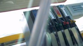 Odbijający widok benzynowi nozzles zdjęcie wideo