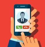 Odbiorcza rozmowa telefonicza ilustracji