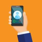 Odbiorczy rozmowy telefonicza pojęcie Obraz Stock