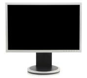 odbitkowego monitoru komputeru osobisty prosta przestrzeń w Obrazy Stock