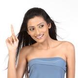 odbitkowy hindus target2247_0_ przestrzeń w górę kobiety Obrazy Royalty Free