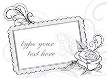 odbitkowy projekta zaproszenia przestrzeni ślub royalty ilustracja