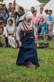 Odbudowa życie antyczne słowianki na festiwalu dziejowi kluby w Zhukovsky okręgu Kaluga region Rosja Zdjęcia Stock