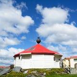 Odbudowa antyczna latarnia morska Ushuaia Argentyna Obrazy Royalty Free