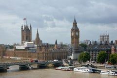 Odbudowa Big Ben w Londyn w 2017 Chmurna pogoda obrazy stock