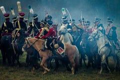 Odbudowa bitwy Patriotyczna wojna 1812 Rosyjskich miast Maloyaroslavets Zdjęcie Stock