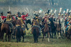 Odbudowa bitwy Patriotyczna wojna 1812 Rosyjskich miast Maloyaroslavets Obrazy Stock