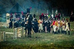 Odbudowa bitwy Patriotyczna wojna 1812 Rosyjskich miast Maloyaroslavets Zdjęcie Royalty Free