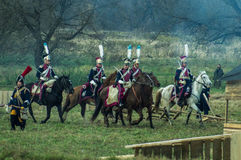 Odbudowa bitwy Patriotyczna wojna 1812 Rosyjskich miast Maloyaroslavets Obraz Royalty Free
