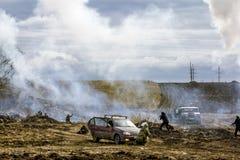 Odbudowa odpierające terrorystyczne operacje na wojskowym Fotografia Royalty Free