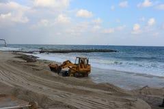 Odbudowa plaża Fotografia Royalty Free