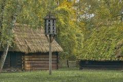 Odbudowa stara wioska fotografia royalty free
