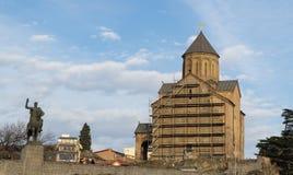 Odbudowy świątynia w Tbilisi obrazy royalty free