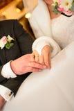 Odchwaszczać pierścionek pary zdjęcie stock
