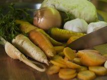 odciąć marchewek Fotografia Stock