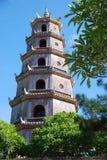 odcień pagoda Vietnam Obraz Royalty Free