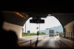 Odcień, Wietnam Mar 15: Hai Van Tunel jest długim tunelem wewnątrz W ten sposób Zdjęcie Stock