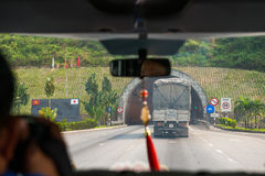 Odcień, Wietnam Mar 15: Hai Van Tunel jest długim tunelem wewnątrz W ten sposób Zdjęcie Royalty Free