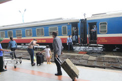 Odcień stacja kolejowa w Vietname Zdjęcie Royalty Free