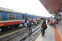 Odcień stacja kolejowa w Vietname Obrazy Royalty Free