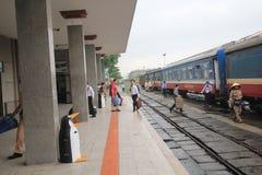 Odcień stacja kolejowa w Vietname Fotografia Royalty Free