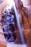 Odcienie i tekstury Sliprock w szczelina jarze Obrazy Stock