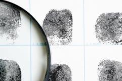 odcisków palców szkła target1417_0_ Obrazy Stock