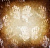 Odcisk ludzkie ręki zdjęcie royalty free