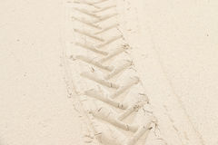 Odcisk na piasek teksturze i tle Fotografia Stock