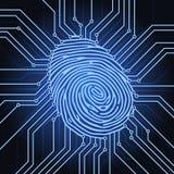Odcisk palca elektronika ilustracji