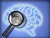 odcisk palca mózgu tożsamości psychoanaliza Fotografia Stock