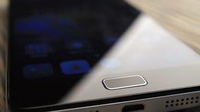 Odcisk palca ochrony ekran otwiera na smartphone zbiory
