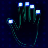 Odcisk palca ręki Fotografia Stock