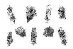 Odcisk palca ustalona wektorowa ilustracja obrazy stock