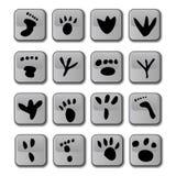 odcisk stopy glansowany ikony Fotografia Royalty Free