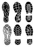 Odcisk stopy ikony odizolowywać na białym tle sztuki światła wektoru świat Kolekcja odcisk zeluje buty Odcisku stopy sport kuje d Zdjęcie Royalty Free