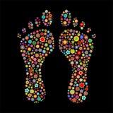 Odcisk stopy kształt Fotografia Royalty Free