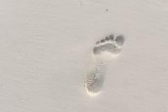Odcisk stopy na piasku Zdjęcie Stock