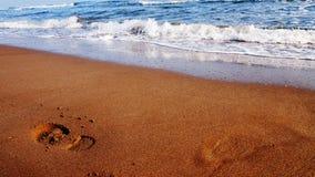 Odcisk stopy na piasku Obraz Royalty Free