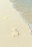 Odcisk stopy na plaży zdjęcie stock