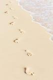 Odcisk stopy na plaży Obraz Royalty Free