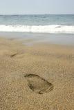 odcisk stopy na plaży Fotografia Royalty Free