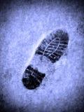 odcisk stopy śnieg Obraz Stock