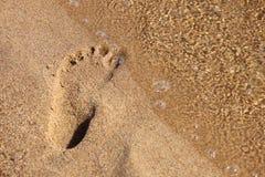odcisk stopy piasek Zdjęcie Royalty Free