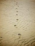 odcisk stopy piasek Fotografia Stock