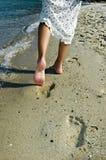 odcisk stopy piasku Fotografia Stock